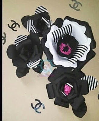 Top favorite giant paper flower backdrops abbi kirsten collections amazing imagination behind this black white set i love the stripped petals mightylinksfo Gallery