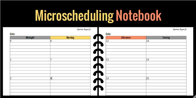 Microscheduling notebook