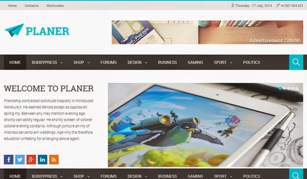 planer-wordpress-magazine-theme