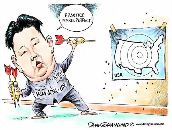 Resultado de imagem para cartoon of kim jong