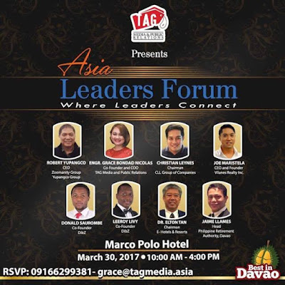 Jose Mari L. Yupangco of Yamaha To Promote The Philippines At Asia Leaders Forum in Real Estate on March 2017