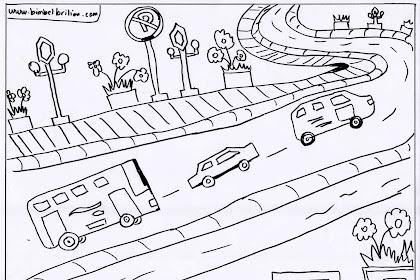 Gambar Mewarnai Jalan Raya