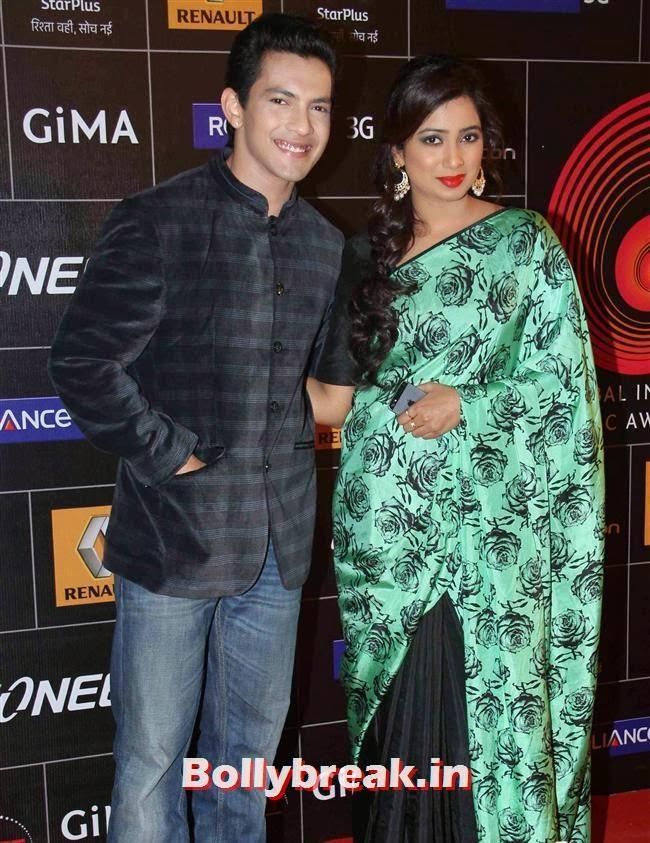 Aditya Narayan and Shreya Ghoshal, Global Indian Music Awards 2014 Pics