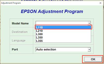 Epson L210 Resetter