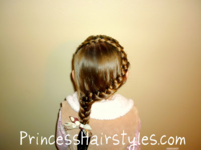 snake braid side ponytail