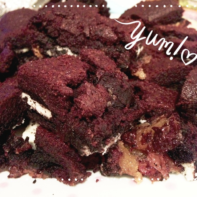 deliciously naughty slutty chocolate brownies
