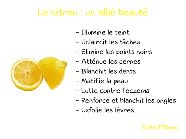Les Bienfaits du Citron sur la peau
