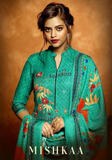 Mishkaa Pashmina Winter Salwar Kameez Wholesaler