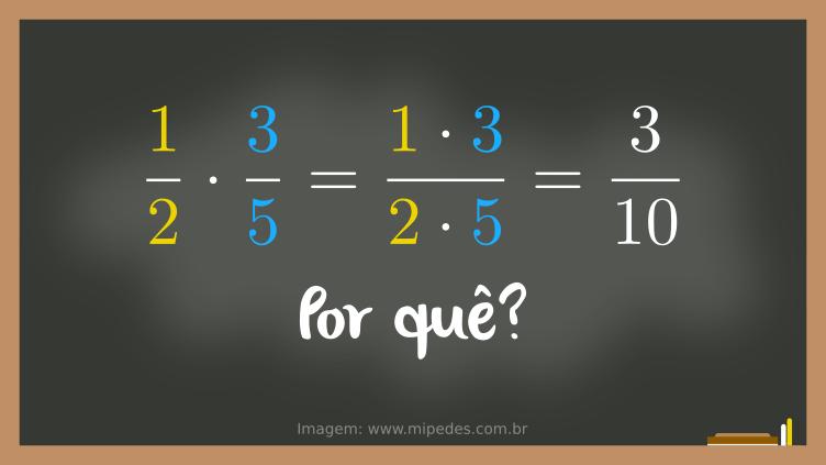 Por que multiplica o numerador com o numerador e denominador com o denominador?