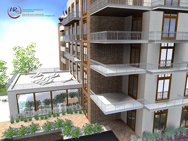 projekt otoczenia hotelu