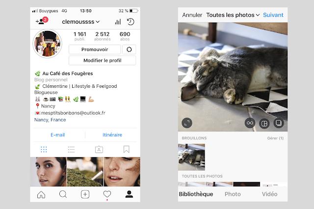 utiliser les brouillons dans instagram