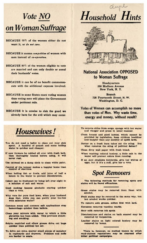 classic anti-suffragette advertisement randommusings.filminspector.com