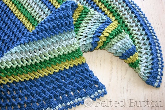 Irish Sea Blanket Crochet Pattern by Susan Carlson of Felted Button