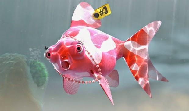 peixe rosa