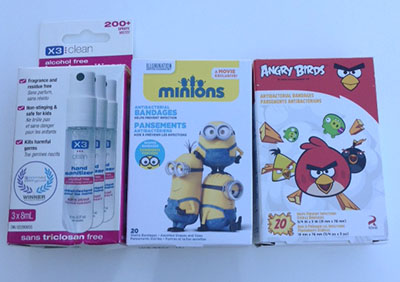 X3 Bandaids and Disinfectants #review #giveawy