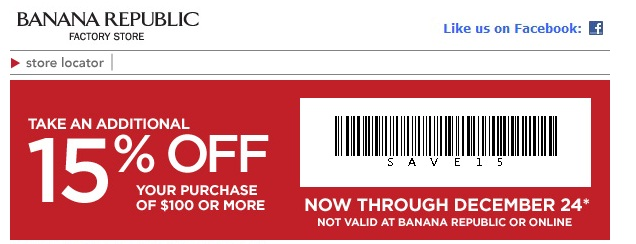 how to use banana republic employee discount online