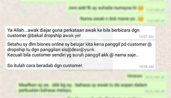 """Guna 'Saya' & 'Awak' Terhadap Customer Adalah Biadab"" – Katanya"