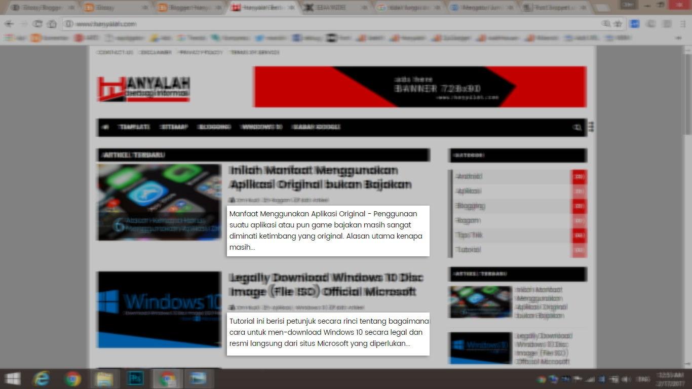 Cara Mengatur Teks Data Post Snippet Cuplikan Artikel di Homepage Blog