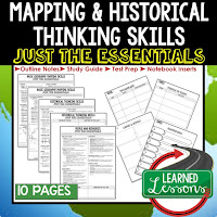 Mapping Skills, World History Outline Notes, World History Test Prep, World History Test Review, World History Study Guide, World History Summer School Outline, World History Unit Overview, World History Interactive Notebook Inserts