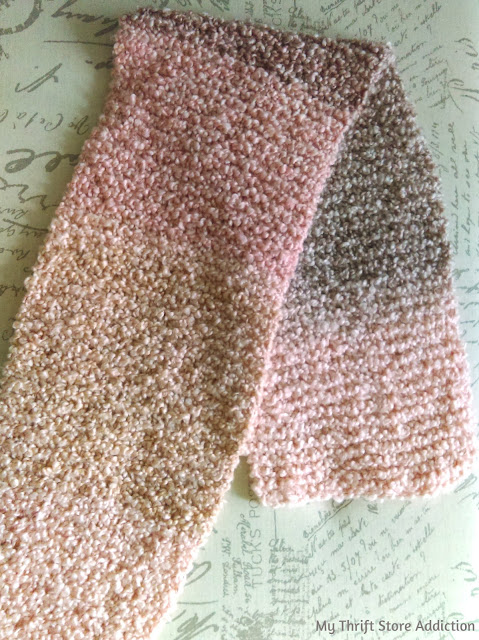 handmade pink ombre scarf