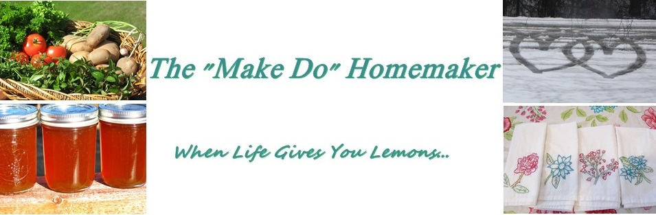 "The ""Make Do"" Homemaker:  When Life Gives You Lemons..."