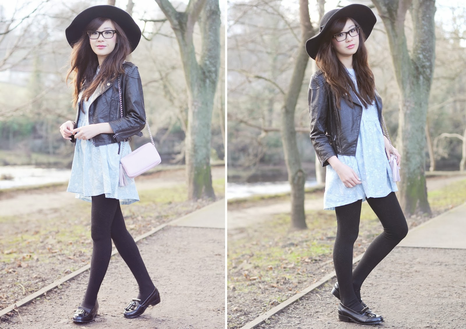 Alexa chung style, smock dress, winter pastels, uk fashion blog, fashion blogger uk
