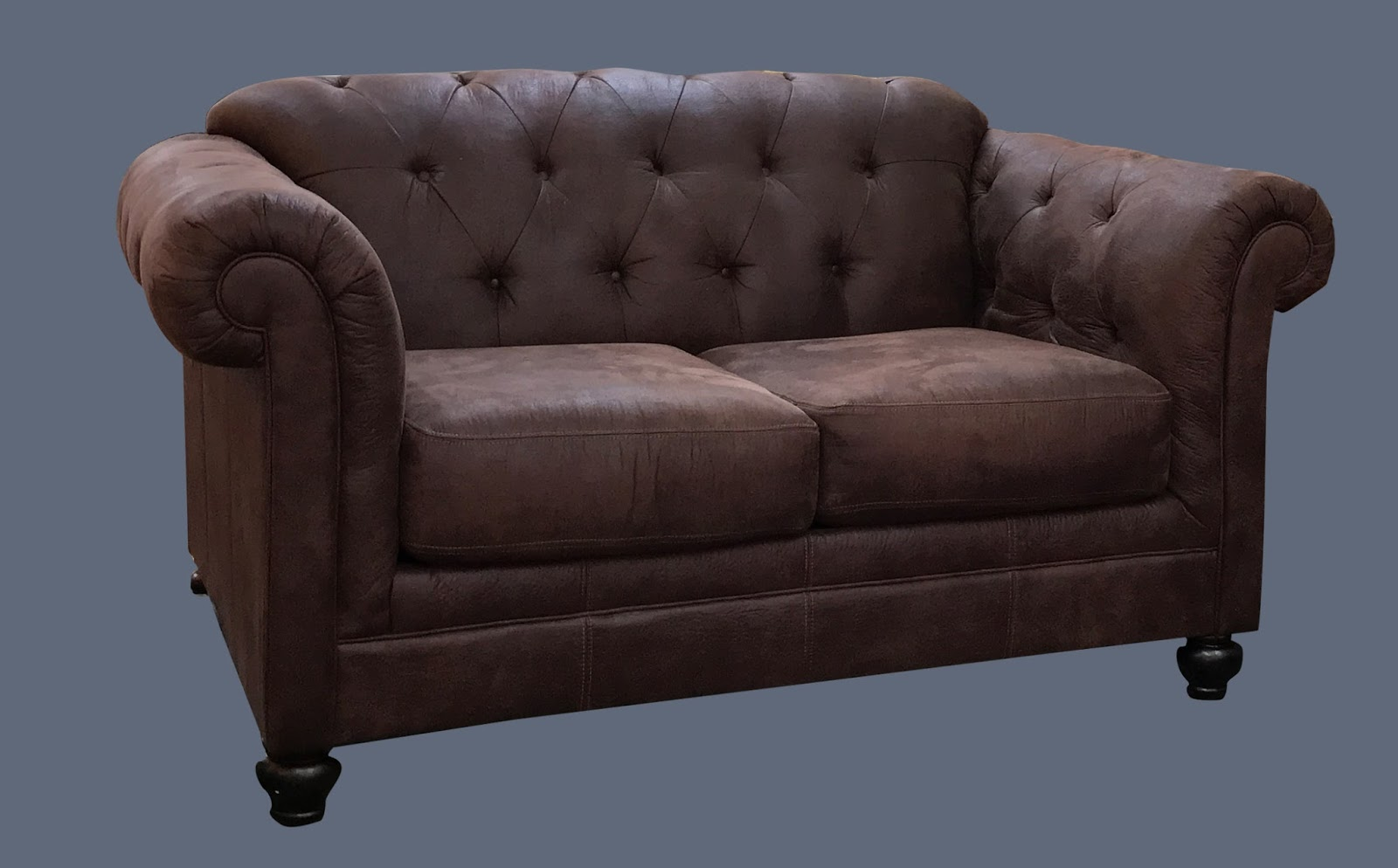Uhuru Furniture Collectibles Tufted Microfiber Distressed Leather Style Loveseat 225 225