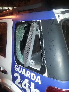 Detido por roubo quebra cofre de viatura da Guarda Municipal de Vitória (ES).
