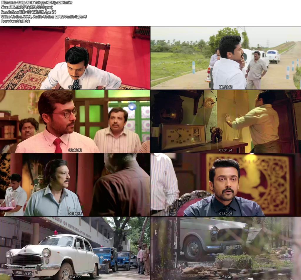 Gang 2018 Telugu HDRip x264 | 480p 300MB | 100MB HEVC Screenshot