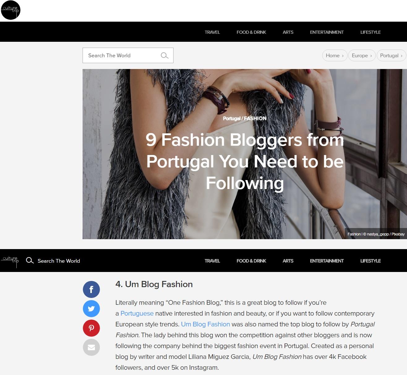 9 bloggers de moda portuguesas para seguir por Culture Trip