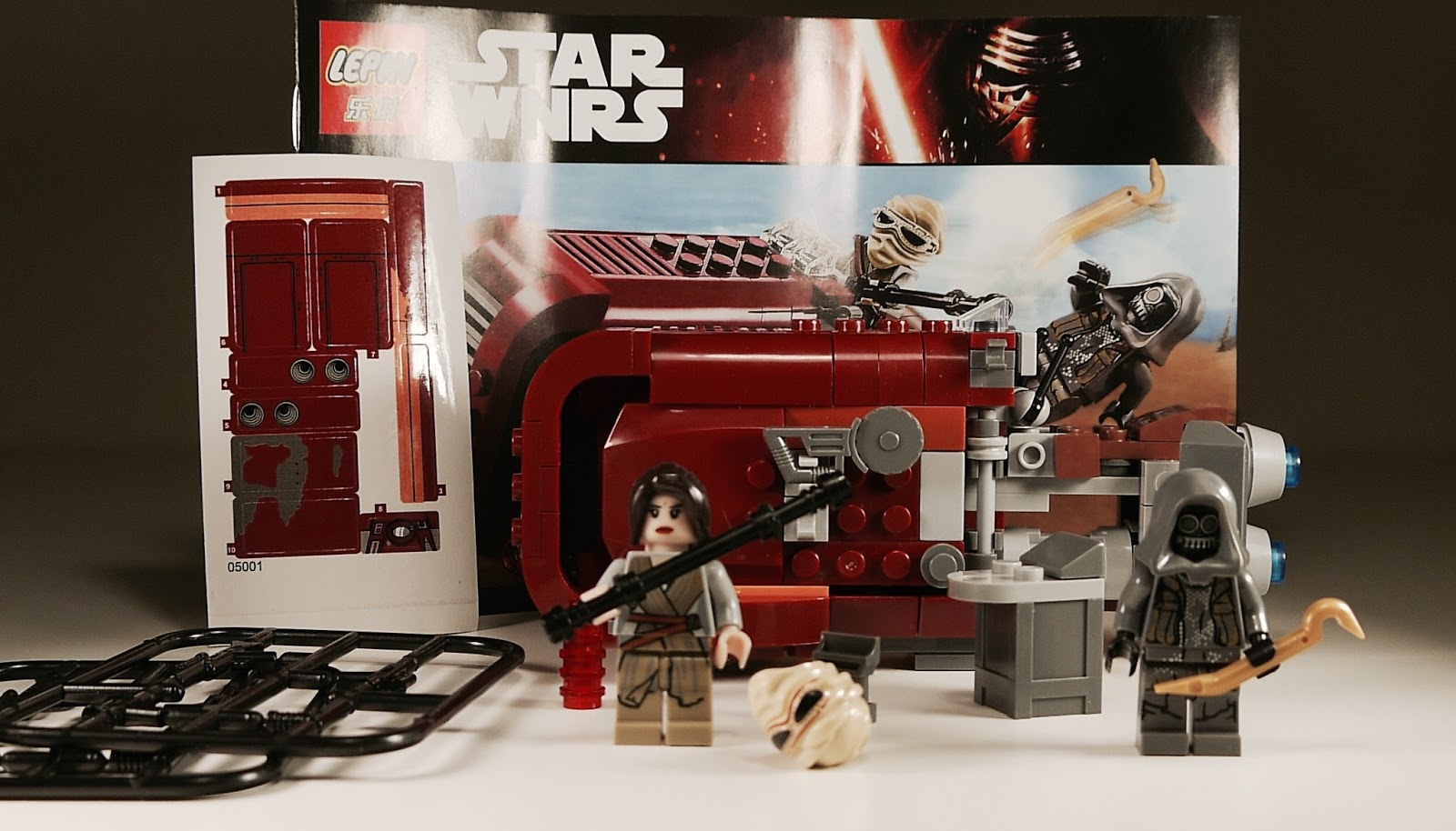 It's Not Lego!: Lepin 05001 Rey's Speeder set review