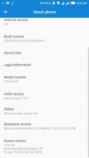 Tecno c8 update