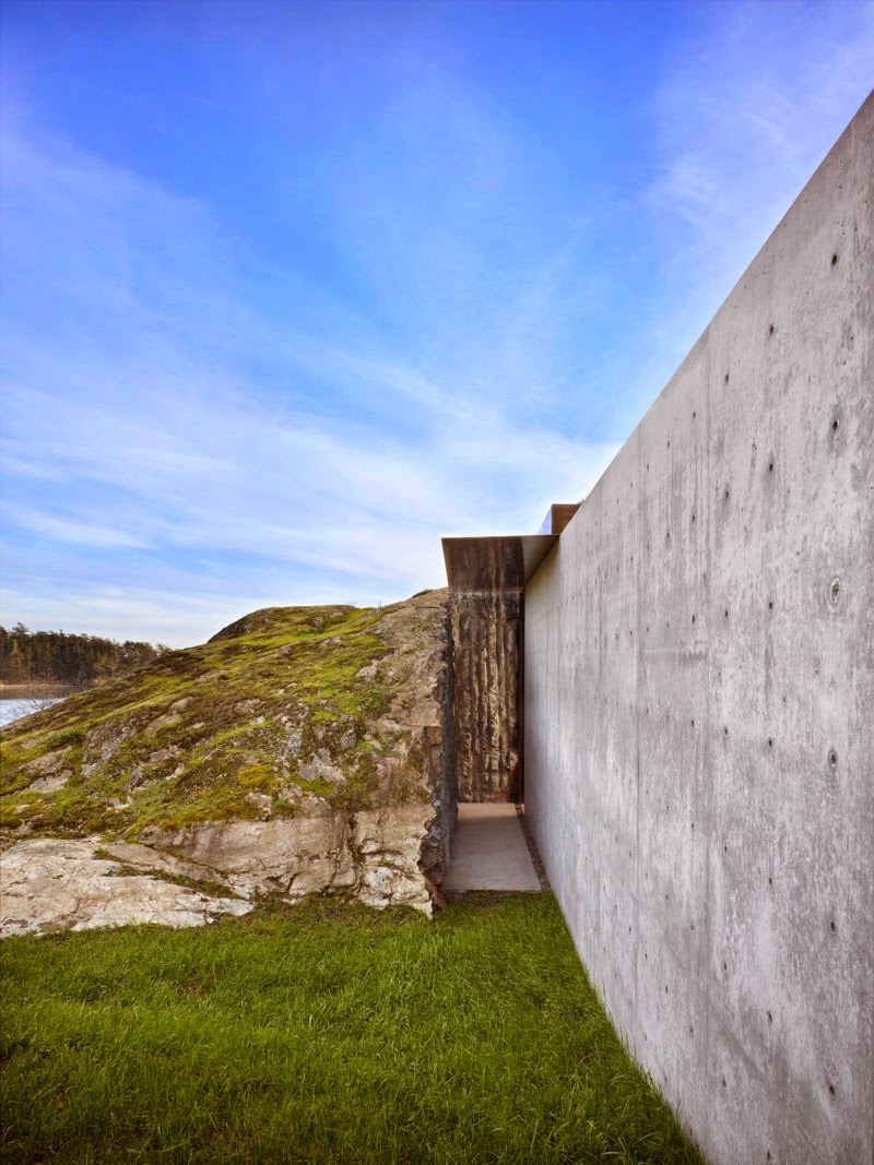 Modern Rock House wall made of stone