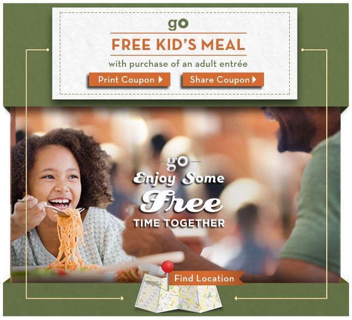 Montebello Mom: Kids Eat Free At Olive Garden, Now-6/13