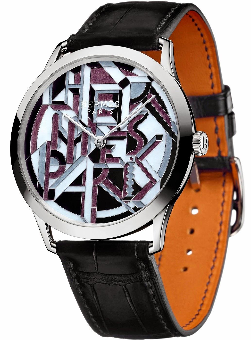 Hermès - Slim d'Hermès Perspective Cavalière automatic watch
