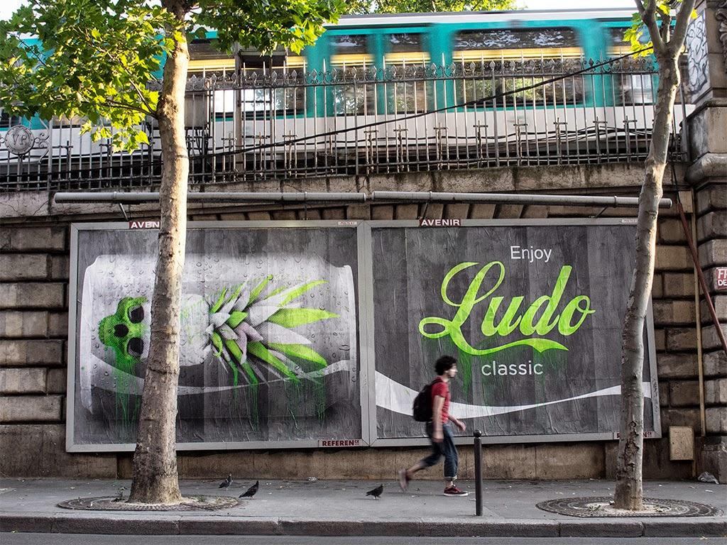 ludo enjoy ludo classic new mural paris france streetartnews streetartnews. Black Bedroom Furniture Sets. Home Design Ideas