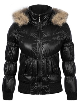Slim Standard Hooded Women's Cotton Coat
