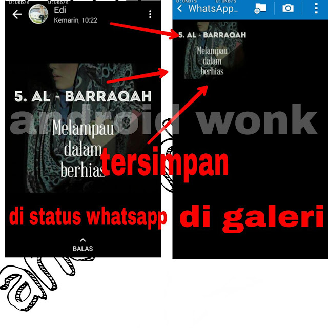cara download foto dan video di WhatsApp