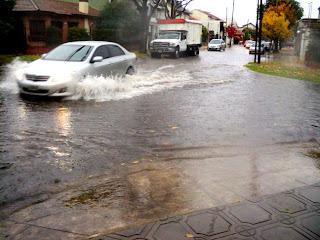 Inundación de Martínez y Boulogne en San Isidro.