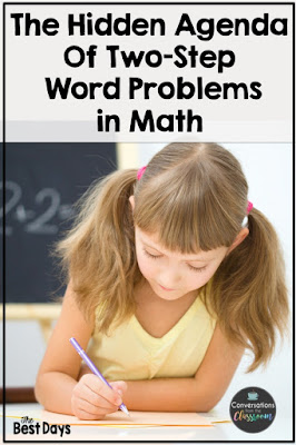This is a pin for the article The Hidden Agenda of Two-Step Word Problems in Math.