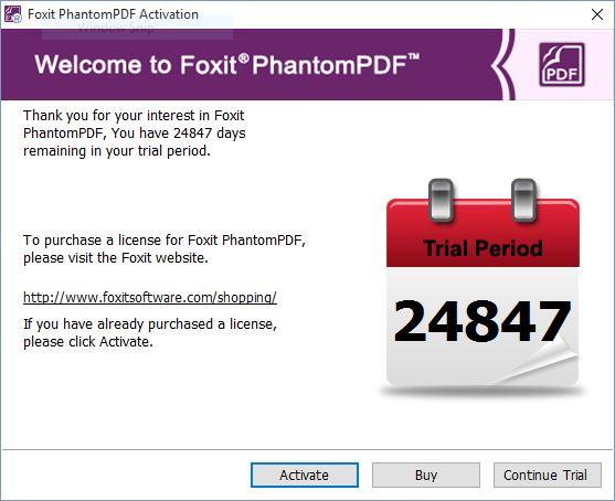 foxit phantompdf registration code