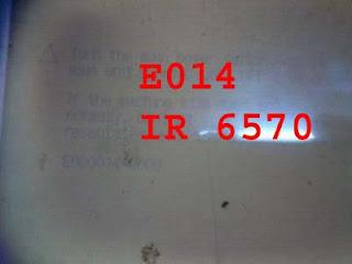 Mengatasi e014 pada FC 6570