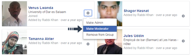 make moderator on facebook group
