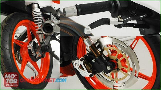 Modifikasi Kaki Kaki Yamaha Jupiter Z1 - Panduan Cara Modifikasi Yamaha All New Jupiter z1 Injeksi Racing Sporty Ala Balapan