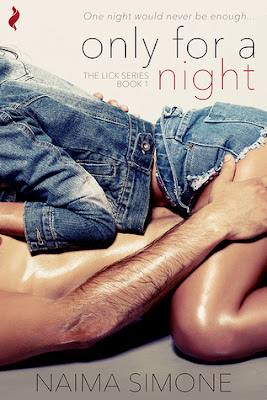 Cover description: a woman wearing a jean jacket and shorts is on top of a naked man, but we also see their torsos and her legs.