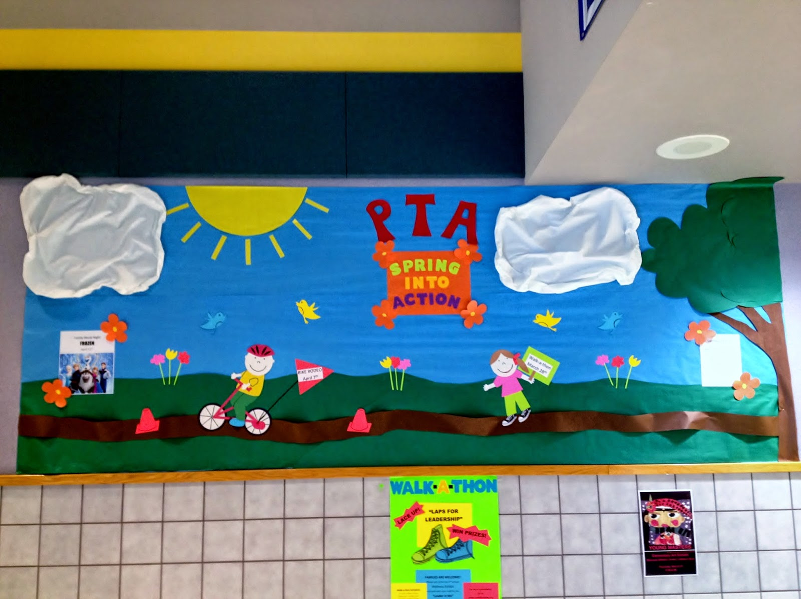 Spring bulletin board, PTA bulletin board idea, bulletin board ideas for teachers