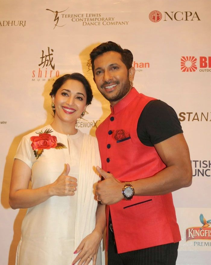 Madhuri Dixit, Terence Lewis, Hot Pics of Madhuri Dixit At  Launch OF Contemporary Dance Festival 'Jugnee'