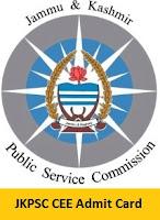 JKPSC CEE Admit Card