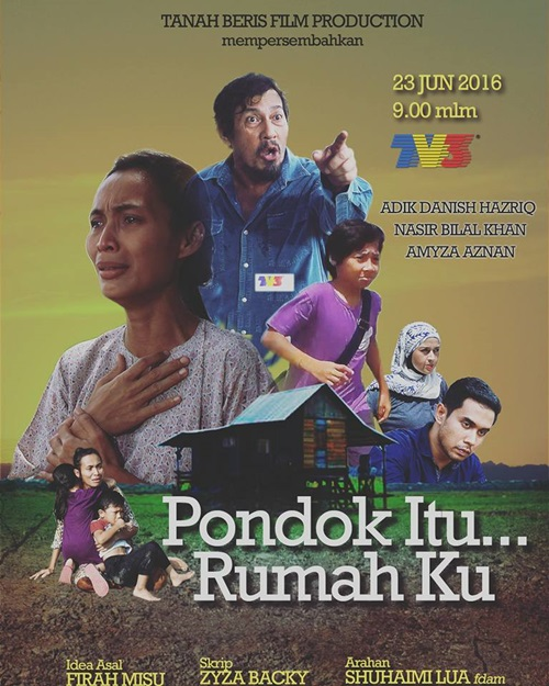 Sinopsis drama Pondok Itu Rumahku TV3, pelakon dan gambar drama Pondok Itu Rumahku TV3