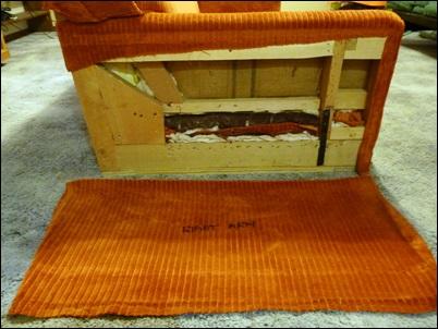 tecido da lateral sofa